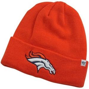 Denver Broncos nfl '47 brand зимняя спортивная шапка с отворотом оранжевая