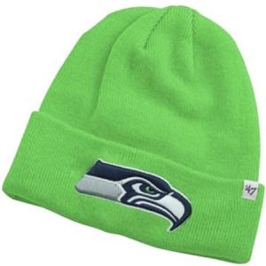 Seattle Seahawks nfl '47 brand спортивная зимняя шапка с отворотом салатовая