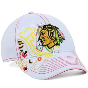 Chicago Blackhawks nhl reebok flex-fit хоккейная бейсболка белая