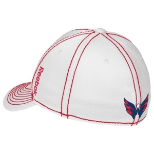 Washington Capitals nhl reebok flex-fit хоккейная спортивная бейсболка белая