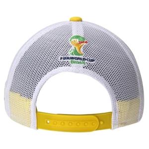 Brasil adidas world cup футбольная бейсболка с сеткой белая