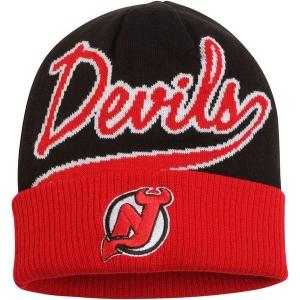New Jersey Devils nhl reebok хоккейная шапка черно-красная