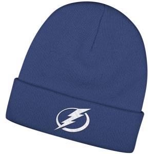 Tampa Bay Lightning nhl reebok хоккейная зимняя шапка с отворотом синяя