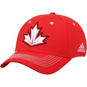 Canada hockey adidas flex-fit world cup хоккейная бейсболка красная