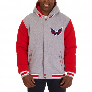 Washington Capitals nhl fleece jacket хоккейный двухсторонний жакет с капюшоном