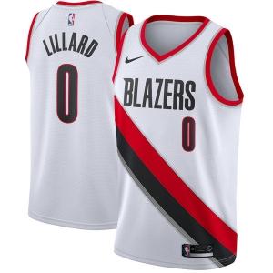 Damian Lillard Portland Trail Blazers nba nike джерси баскетбольная майка белая
