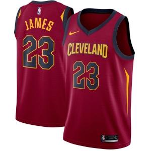 LeBron James Cleveland Cavaliers nba nike джерси баскетбольная майка бордовая