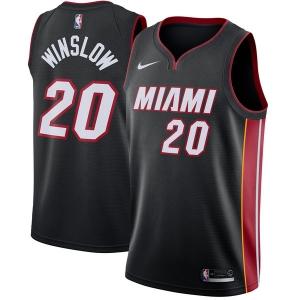 Justise Winslow Miami Heat nba nike джерси баскетбольная майка черная