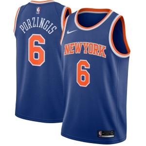 Kristaps Porzingis New York Knicks nba nike джерси баскетбольная майка синяя
