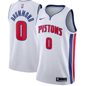 Andre Drummond Detroit Pistons nba nike джерси баскетбольная майка белая