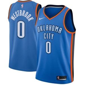 Russell Westbrook Oklahoma City Thunder nba nike джерси баскетбольная майка синяя