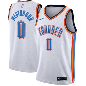 Russell Westbrook Oklahoma City Thunder nba nike джерси баскетбольная майка белая