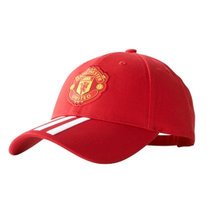 Manchester United FC adidas футбольная бейсболка красная