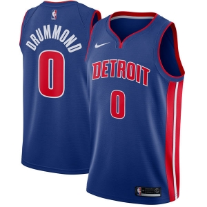 Andre Drummond Detroit Pistons nba nike джерси баскетбольная майка синяя