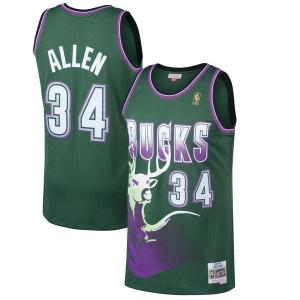 Giannis Antetokounmpo Milwaukee Bucks nba mitchell & ness 1996-97 hardwood classics джерси баскетбольная майка