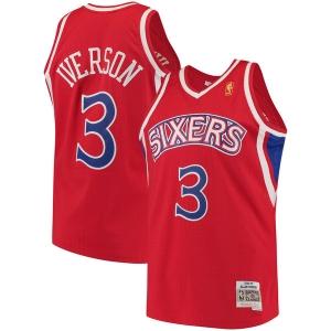 Allen Iverson Philadelphia 76ers nba mitchell & ness 1996-97 hardwood classics джерси баскетбольная майка