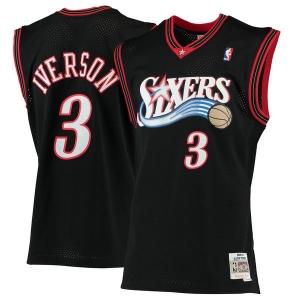 Allen Iverson Philadelphia 76ers nba mitchell & ness 2000-01 hardwood classics джерси баскетбольная майка