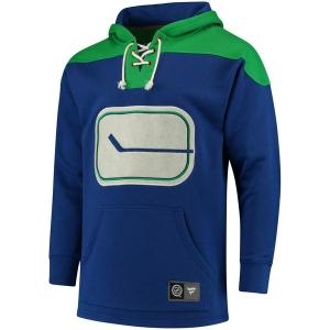 Vancouver Canucks nhl fanatics lace up hoodie хоккейная толстовка с капюшоном