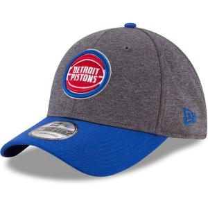Detroit Pistons nba new era flex-fit heathered спортивная бейсболка серая