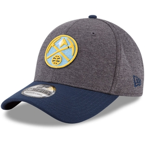 Denver Nuggets nba new era flex-fit heathered спортивная бейсболка серая