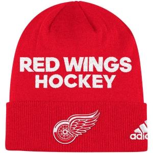 Detroit Red Wings nhl adidas хоккейная шапка красная