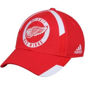 Detroit Red Wings nhl adidas flex-fit practice хоккейная бейсболка красная