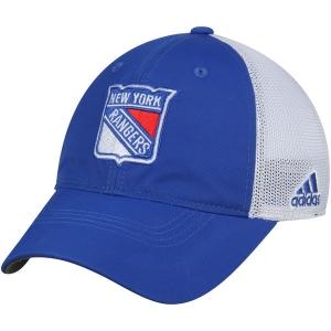 New York Rangers nhl adidas flex-fit on ice хоккейная бейсболка с сеткой сине-белая