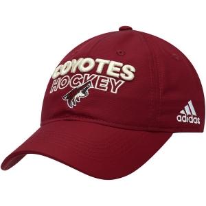 Arizona Coyotes nhl adidas on ice хоккейная бейсболка бордовая