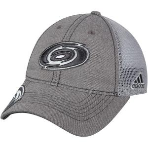 Carolina Hurricanes nhl adidas travel хоккейная бейсболка с сеткой серая