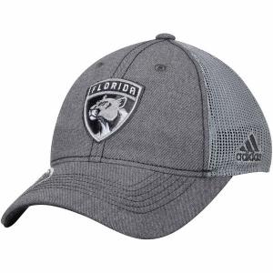 Florida Panthers nhl adidas travel хоккейная бейсболка с сеткой серая