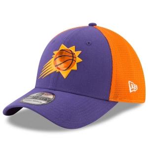 Phoenix Suns nba new era flex-fit on-court спортивная бейсболка фиолетовая