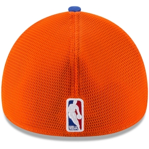 New York Knicks nba new era flex-fit on-court спортивная бейсболка синяя