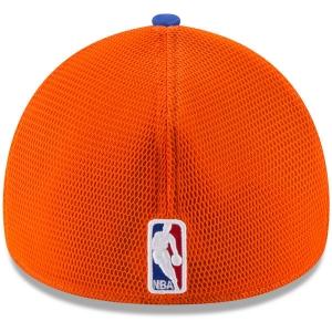New York Knicks nba new era flex-fit on-court спортивная бейсболка синяя