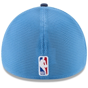 Denver Nuggets nba new era flex-fit on-court спортивная бейсболка сине-голубая