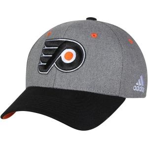 Philadelphia Flyers nhl adidas adjustable хоккейная спортивная бейсболка серая