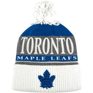 Toronto Maple Leafs nhl adidas хоккейная шапка с помпоном белая