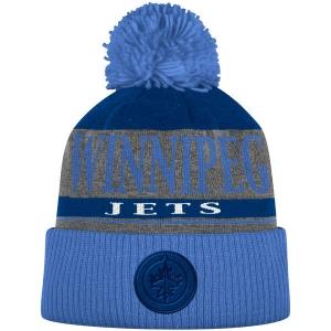 Winnipeg Jets nhl adidas хоккейная шапка с помпоном синяя