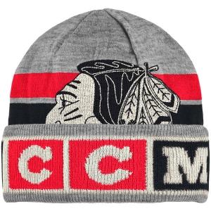 Chicago Blackhawks nhl ccm vintage хоккейная шапка серая