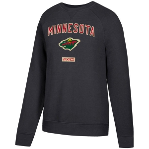 Minnesota Wild nhl ccm fleece pullover хоккейная спортивная кофта