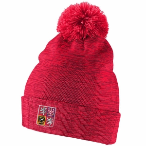 Czech Republic Hockey nike iihf olympic хоккейная шапка с помпоном красная