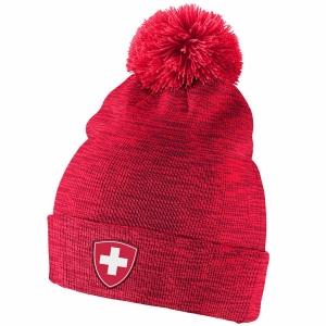 Switzerland Hockey nike iihf olympic хоккейная шапка с помпоном красная