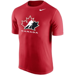 Canada hockey iihf nike dri-fit хоккейная футболка красная