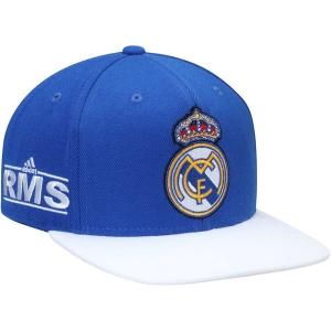 Real Madrid CF adidas snapback футбольная кепка с прямым козырьком синяя