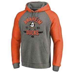 Anaheim Ducks nhl fanatics raglan hoodie хоккейная толстовка с капюшоном серая