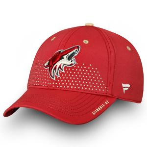 Arizona Coyotes nhl fanatics draft flex-fit хоккейная бейсболка бордовая