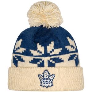 Toronto Maple Leafs nhl adidas stadium series хоккейная шапка с помпоном