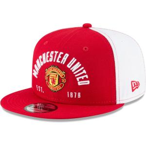 Manchester United FC new era snapback футбольная кепка с прямым козырьком красная