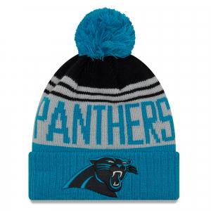 Carolina Panthers nfl new era спортивная шапка с помпоном цветная