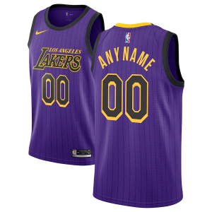 Ваше имя и номер Los Angeles Lakers nba nike city edition джерси баскетбольная майка