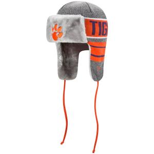 Clemson Tigers ncaa new era trapper зимняя спортивная шапка ушанка